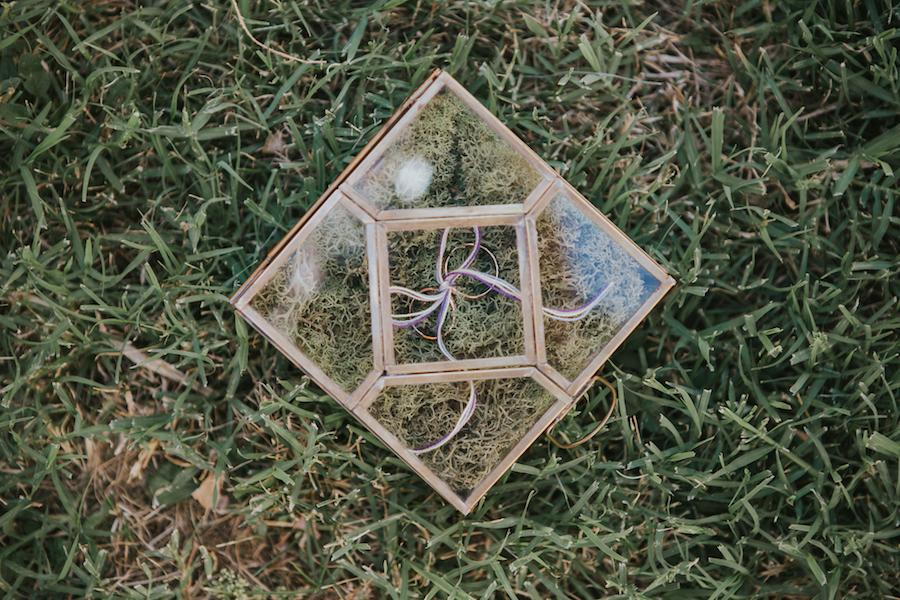 scatola portafedi in vetro