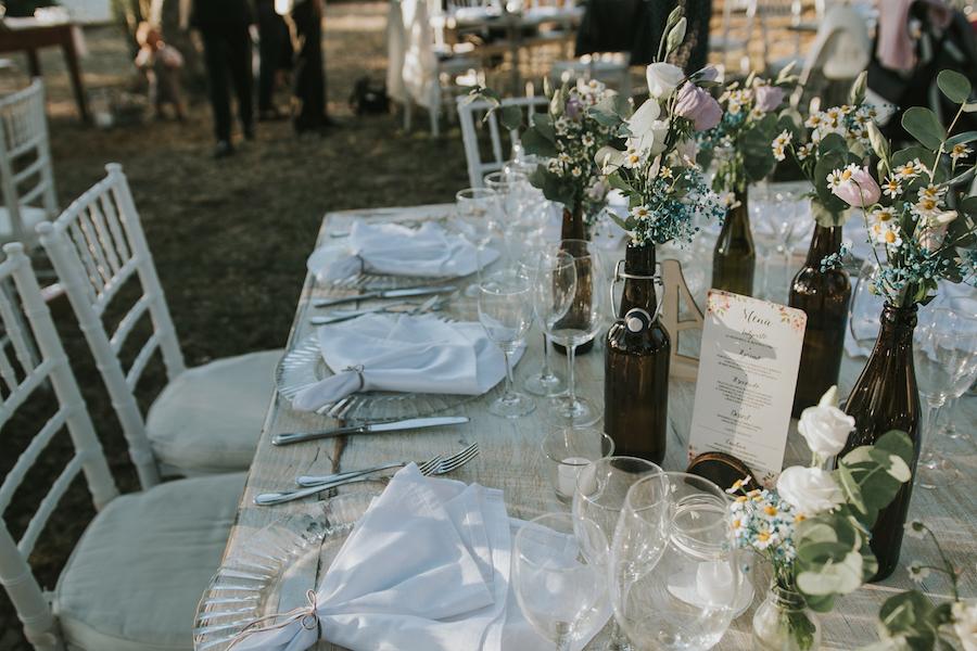 tavola matrimonio bucolico