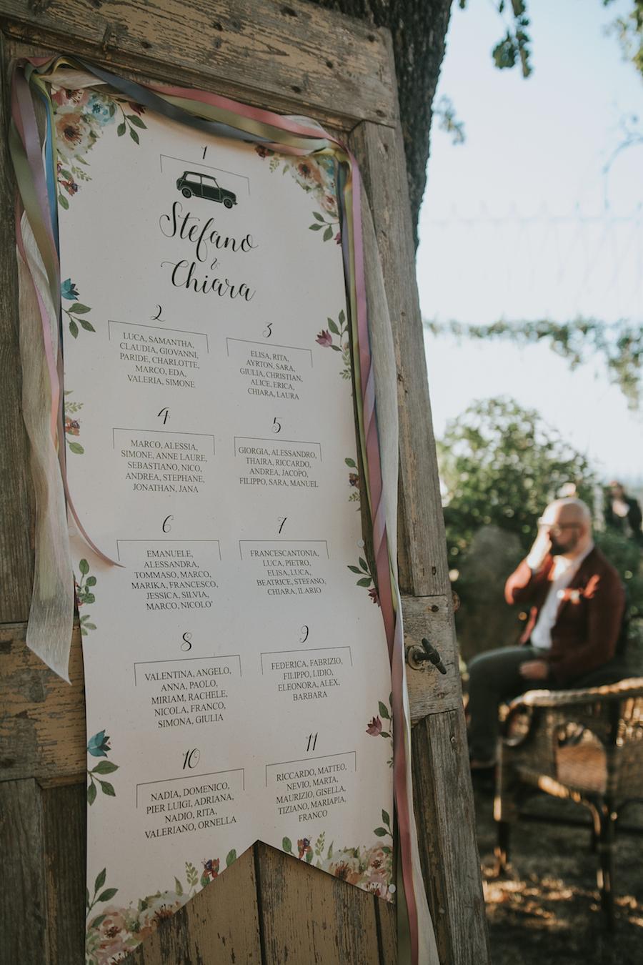 tableau de mariage bucolico