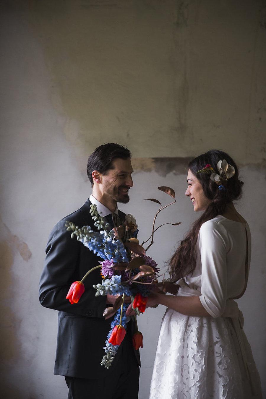 matrimonio industriale colorato