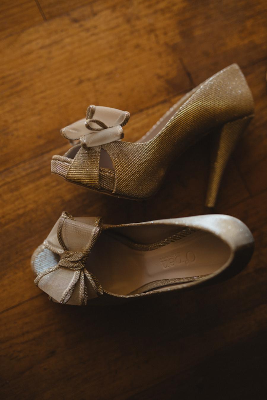 scarpe sposa con fiocco
