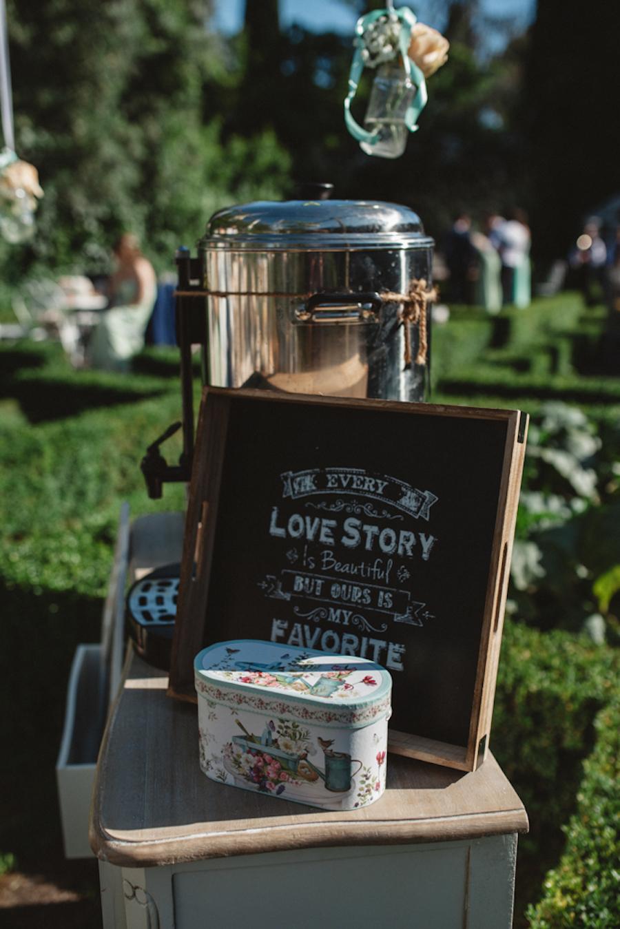 angolo del tè matrimonio