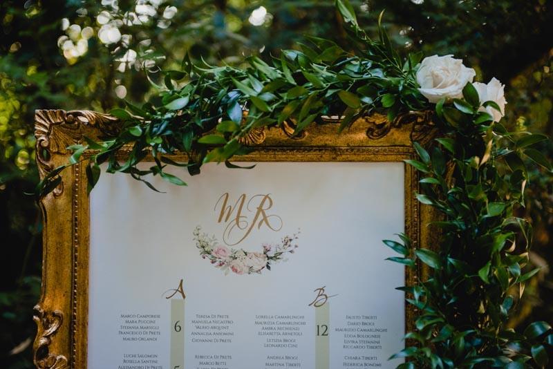 tableau de mariage in cornice oro