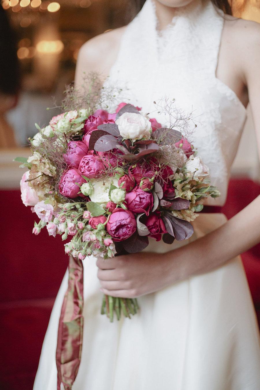 bouquet rosa e magenta
