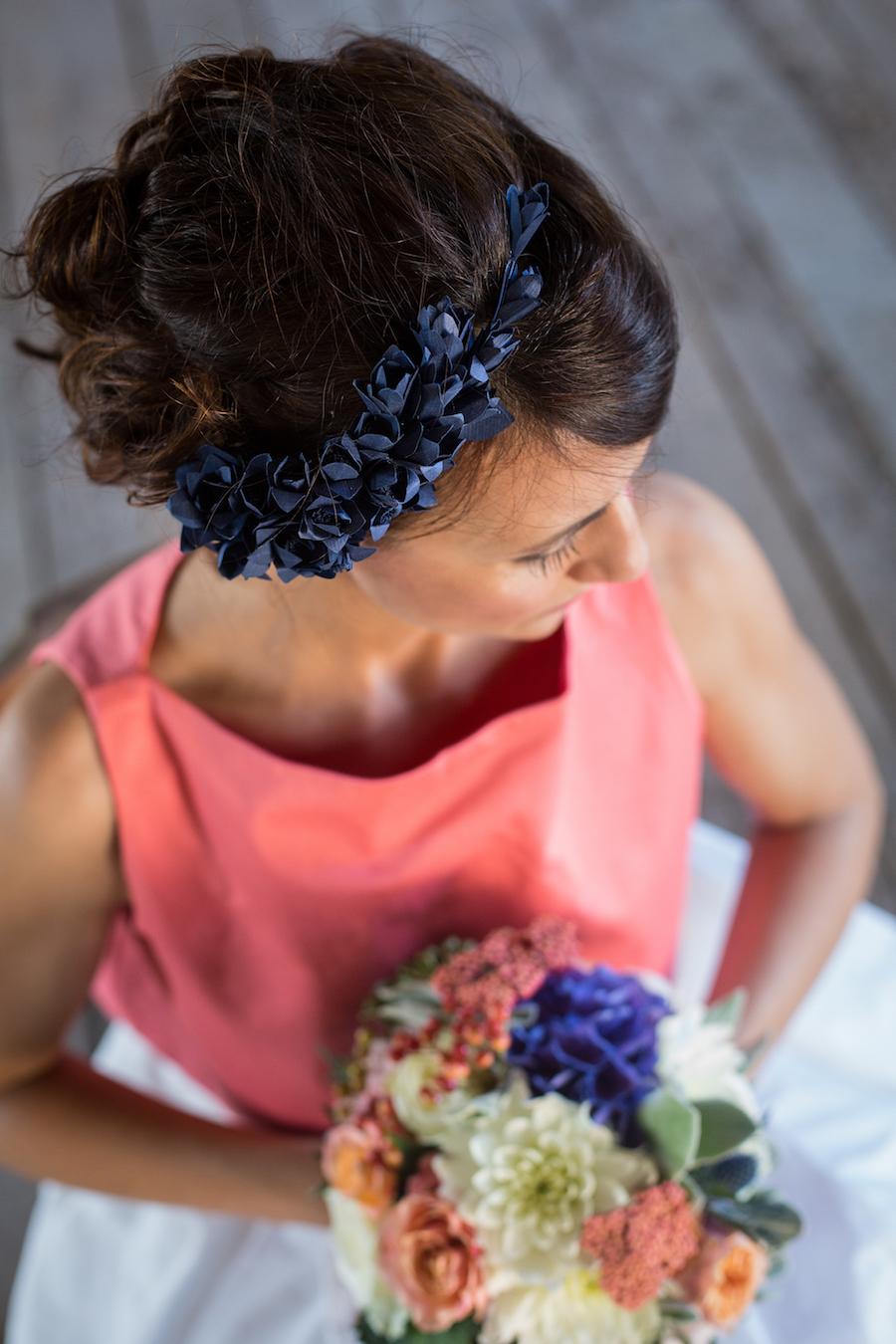matrimonio corallo e blu