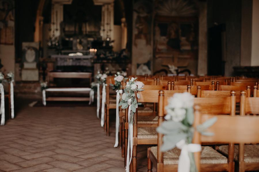 allestimento chiesa bucolico