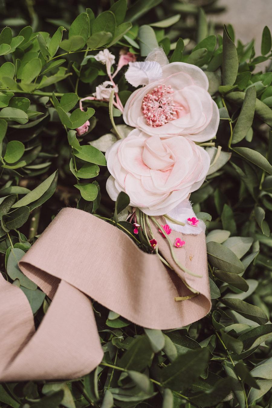 cintura floreale sposa