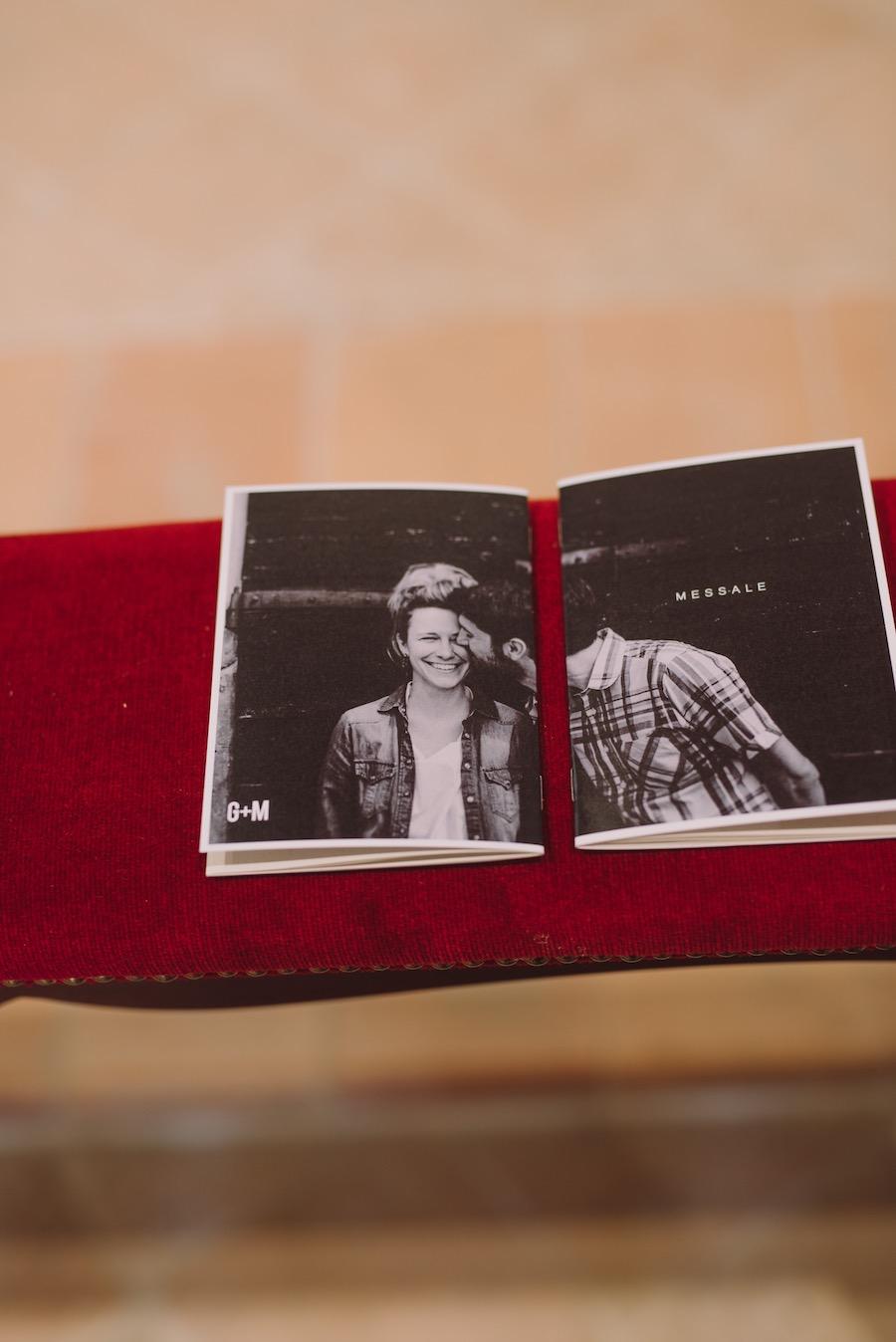 libretto messa con fotografie