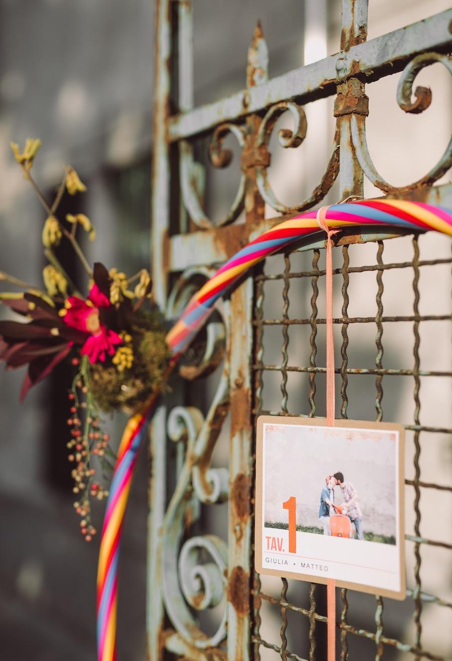 tableau de mariage con hula hoop e fotografie