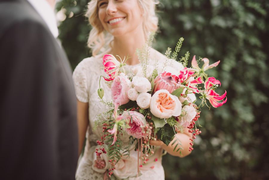 bouquet rosa tropicale