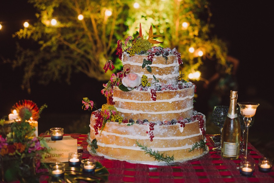 naked cake tropicale