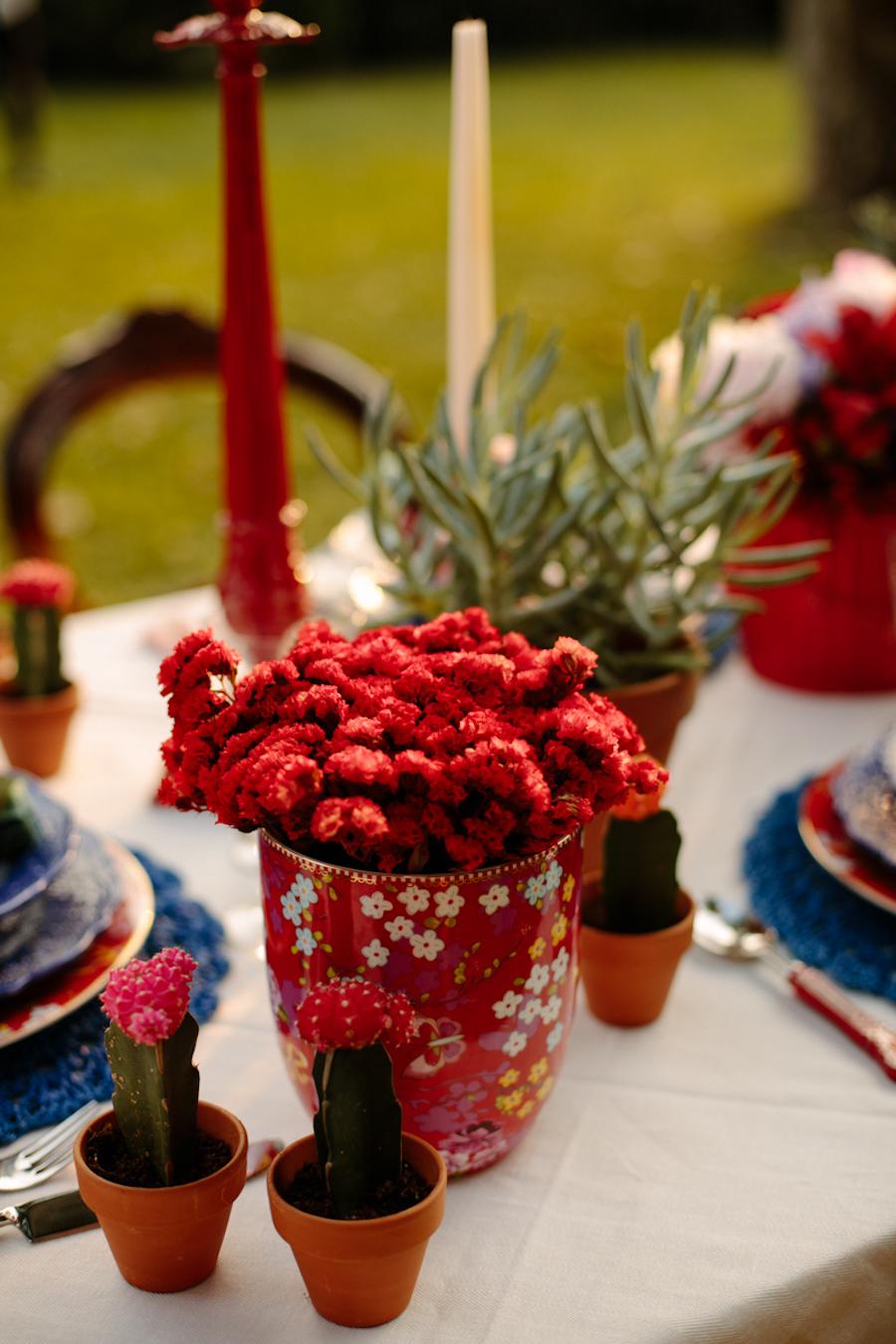 centrotavola con cactus