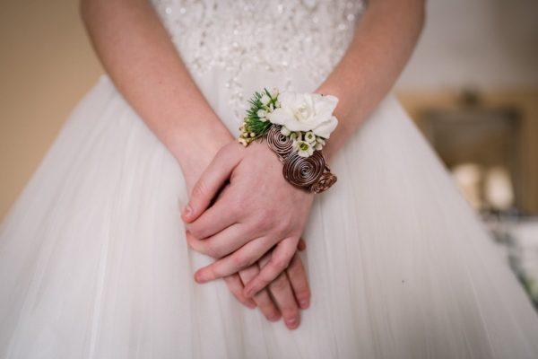 Marmo e geometrie per un matrimonio in castello