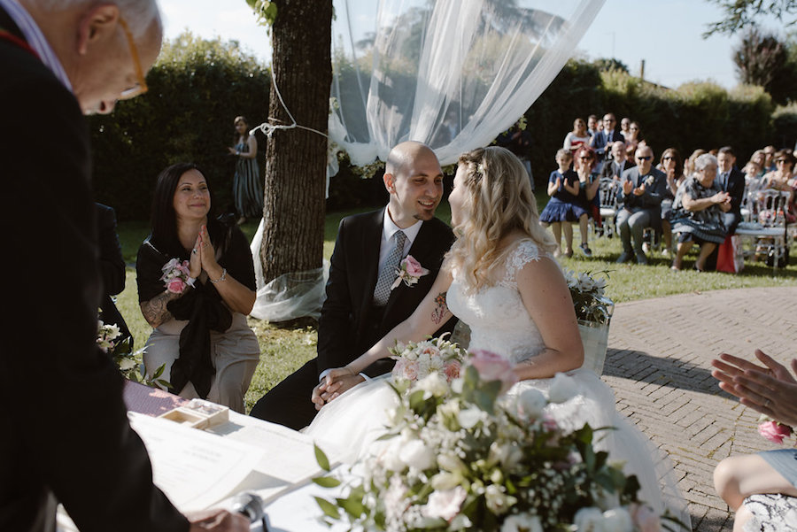 matrimonio romantico fatto a mano