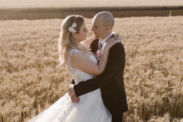 Un matrimonio romantico e fatto a mano