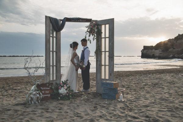 Ispirazione romantica sulla spiaggia