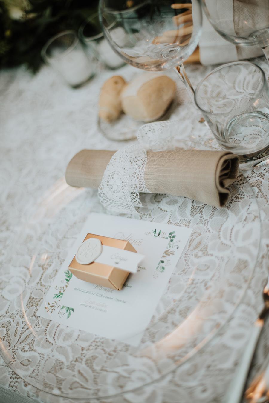 mise en place matrimonio vintage