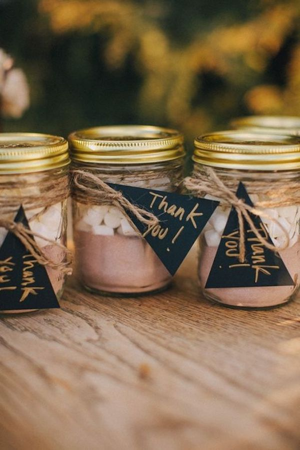 preparato per cioccolata calda | bomboniere per un matrimonio autunnale