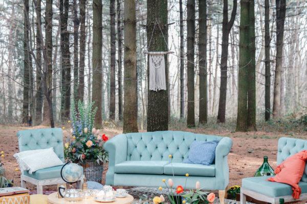 Ispirazione bohémien nel bosco