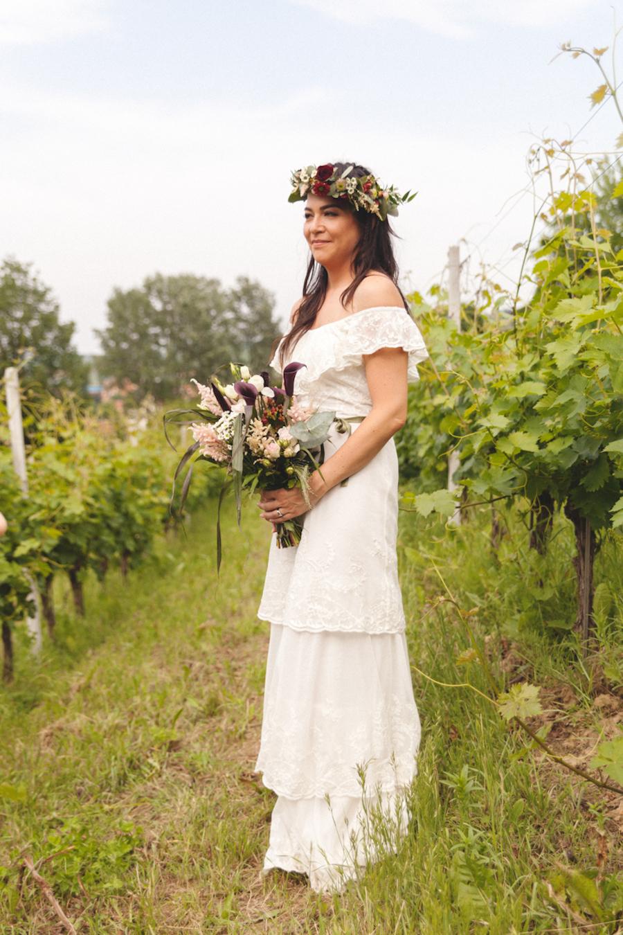 abito da sposa a balze