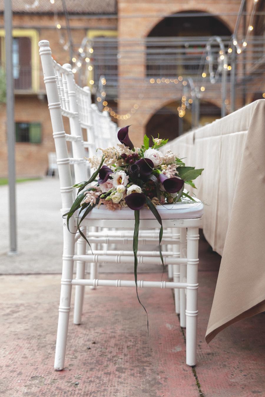 bouquet con calle e lisianthus