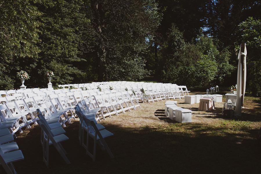 cerimonia all'aperto alle serre di racconigi
