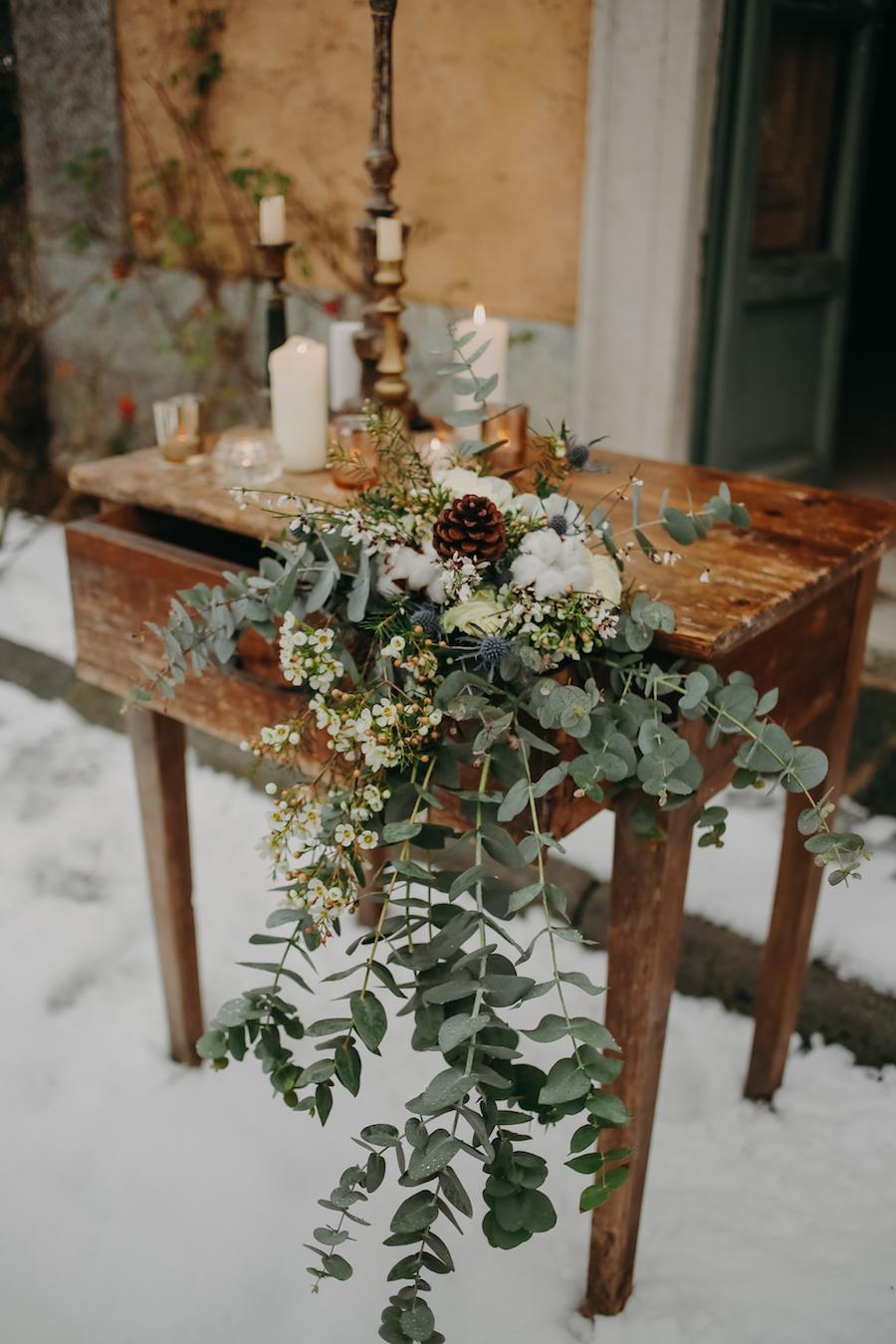 matrimonio invernale nella neve