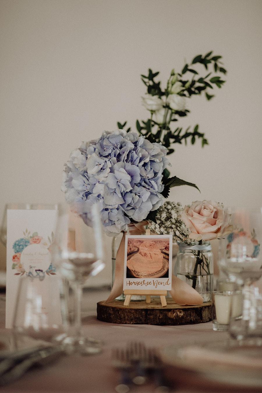 matrimonio vintage rosa e azzurro