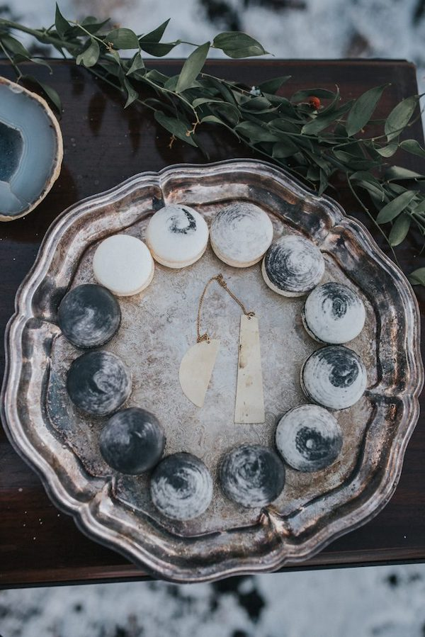 macarons ispirati alle fasi lunari