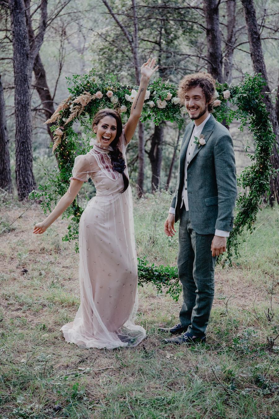 matrimonio fiabesco nel bosco