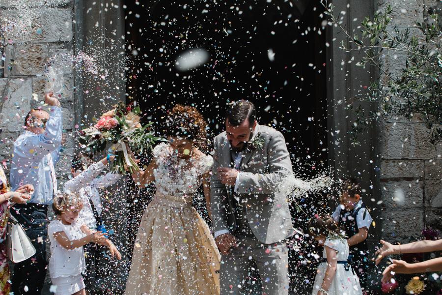 matrimonio colorato sul lago d'iseo
