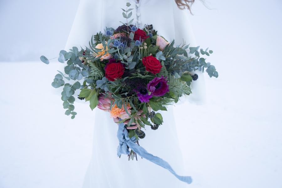 matrimonio bohémien nella neve