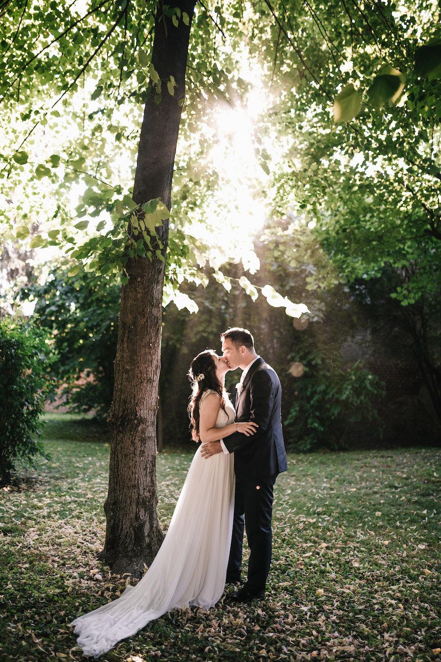 matrimonio bucolico in giardino