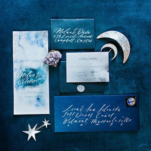 partecipazioni a tema luna e stelle