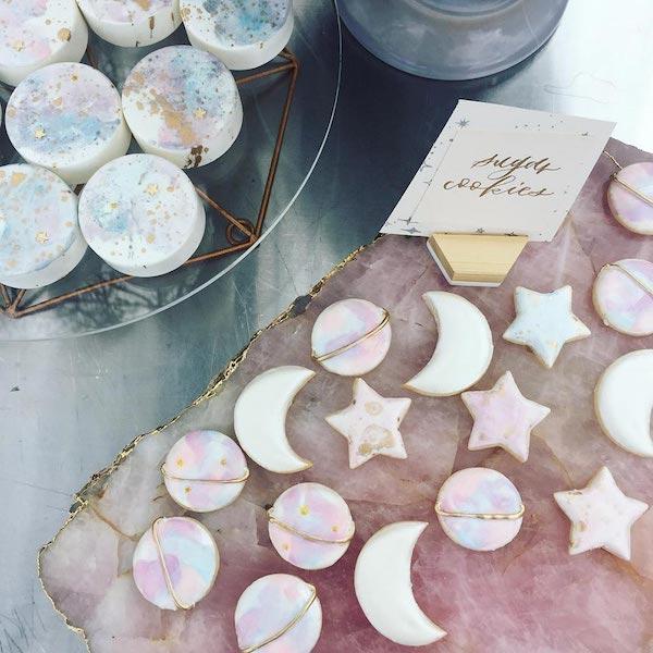 sweet table a tema luna e stelle