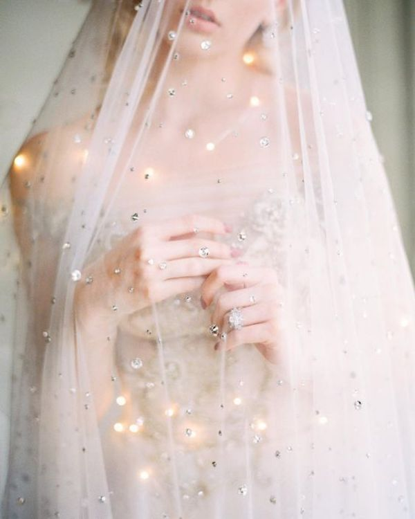 velo da sposa con strass