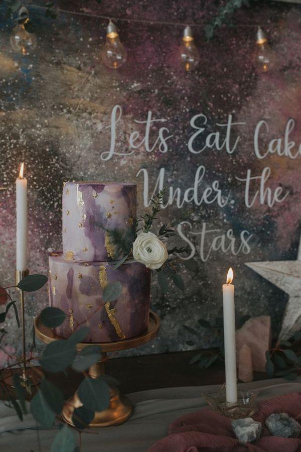 wedding cake a tema stelle