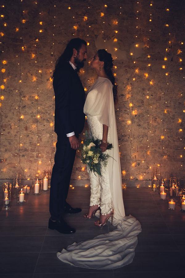 matrimonio invernale blu e oro