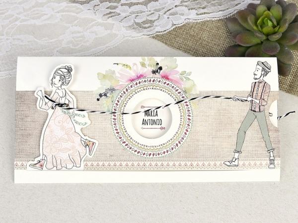 partecipazioni matrimonio boho chic