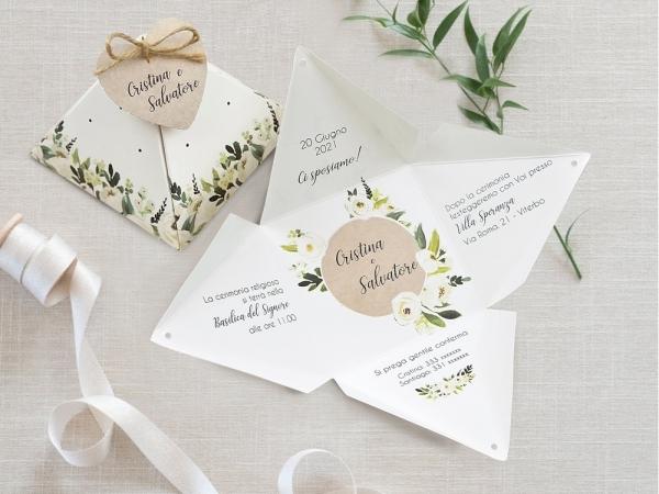 partecipazioni matrimonio floreale
