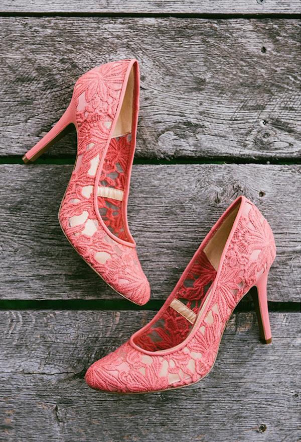 scarpe da sposa corallo
