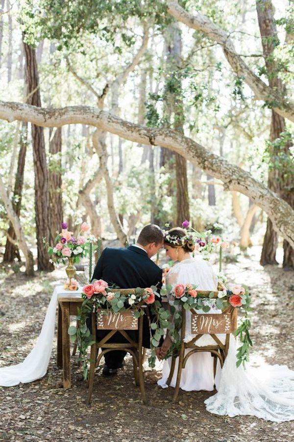 tavolo sposi matrimonio romantico
