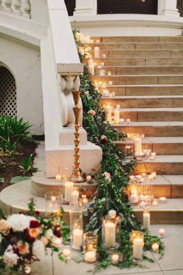 allestimento matrimonio invernale con candele
