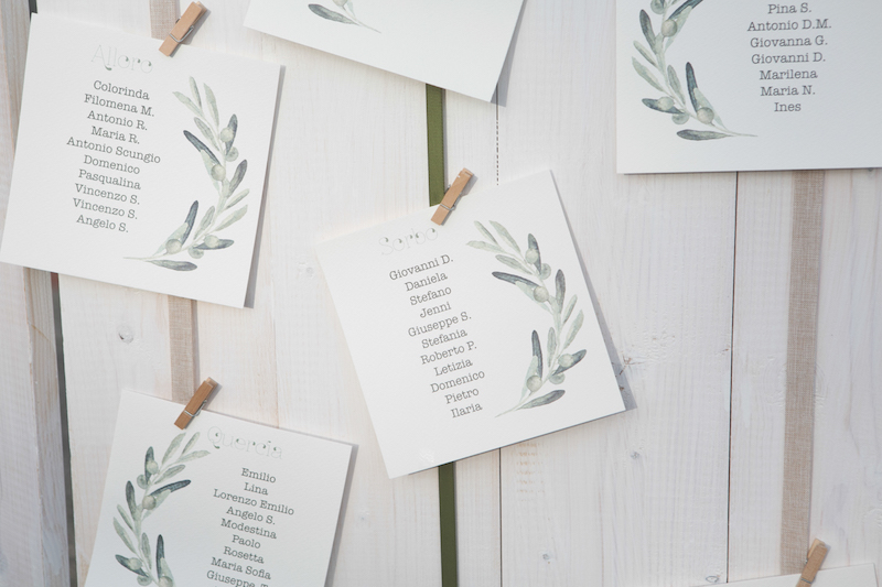 Segnaposto Matrimonio Ulivo.Un Matrimonio A Tema Ulivo Wedding Wonderland