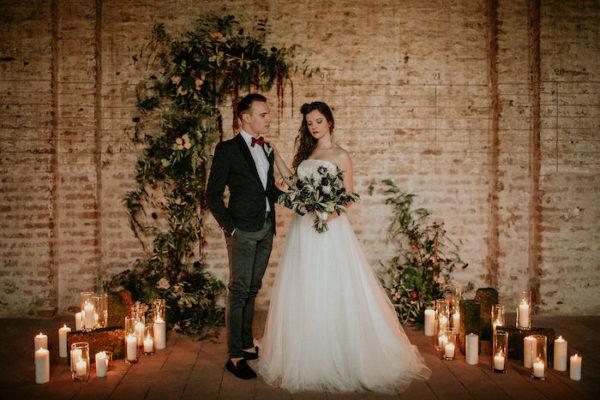 Matrimonio D Inverno Location Toscana : Industriale wedding wonderland